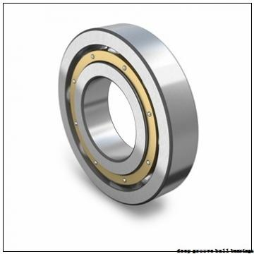 6,35 mm x 9,525 mm x 3,175 mm  ISO FR168B deep groove ball bearings